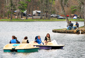 Camp, fish and boat at Douthat State Park