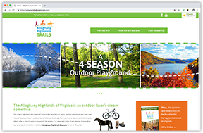 Alleghany Highlands Trails website